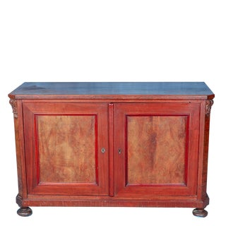 19th Century American Classical Cherrywood Sideboard Cabinet For Sale