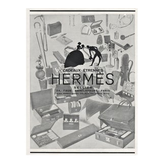 Matted Art Deco Hermes Vintage Print For Sale