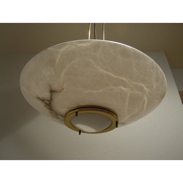 Lightolier Alabaster Pendant Light - Image 4 of 9