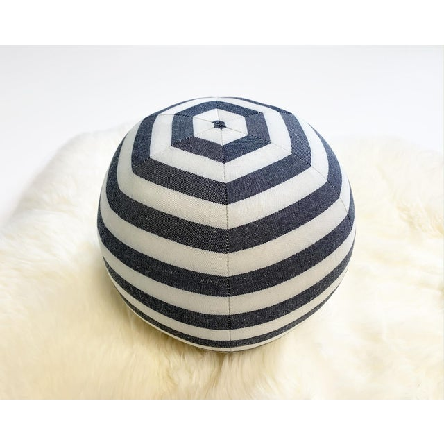 "2010s Forsyth Kule Stripe Ball Pillow, 12"" For Sale - Image 5 of 6"