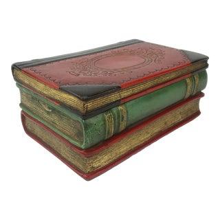 Vintage Borghese Italian Terracotta Faux Book Box For Sale