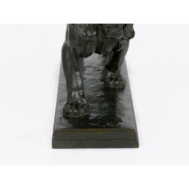"""Lion Marchant"" Antique French Bronze Sculpture by Antoine-Louis Barye, Barbedienne For Sale - Image 12 of 13"