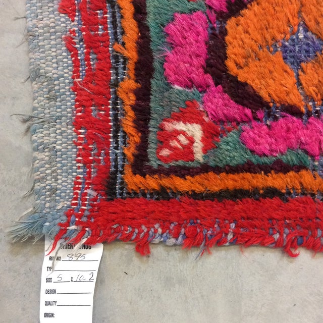 Textile Vintage Chinese Khotan Rug - 4'9x10' For Sale - Image 7 of 13