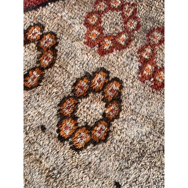 "Textile 1960s Vintage Gabbeh Runner-3'6"" X 11'10"" For Sale - Image 7 of 10"