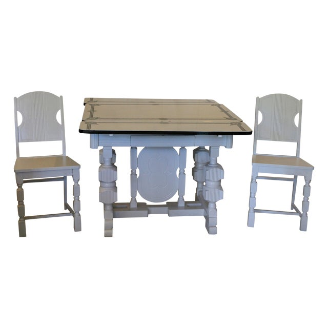 Art Deco Enamel Topped Dining Set - Image 1 of 11