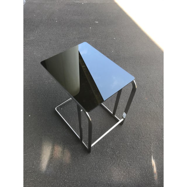 Silver HD Buttercup Steel & Glass Side Table For Sale - Image 8 of 9