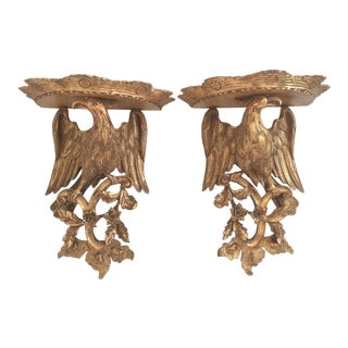 Chippendale Style Wood Wall Sconces - a Pair For Sale