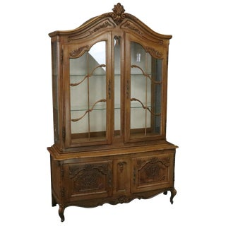 China Cabinet Louis XV Rococo Vintage French 1950 For Sale