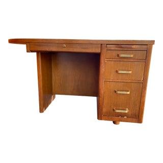 1960s Leopold Campaign Wooden Executive Desk For Sale