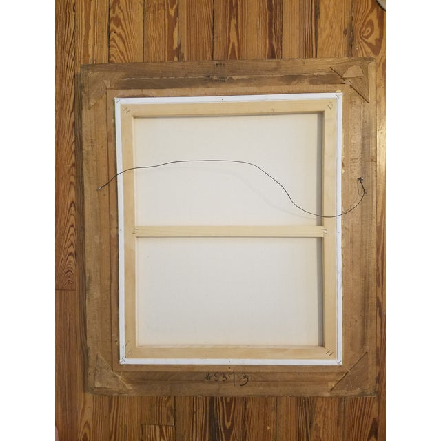 Gold Framed Abstract Painting   Chairish