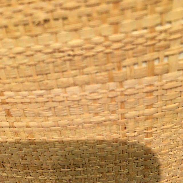 Raffia Wrapped Ice Bucket With Bamboo Handle For Sale In Atlanta - Image 6 of 7
