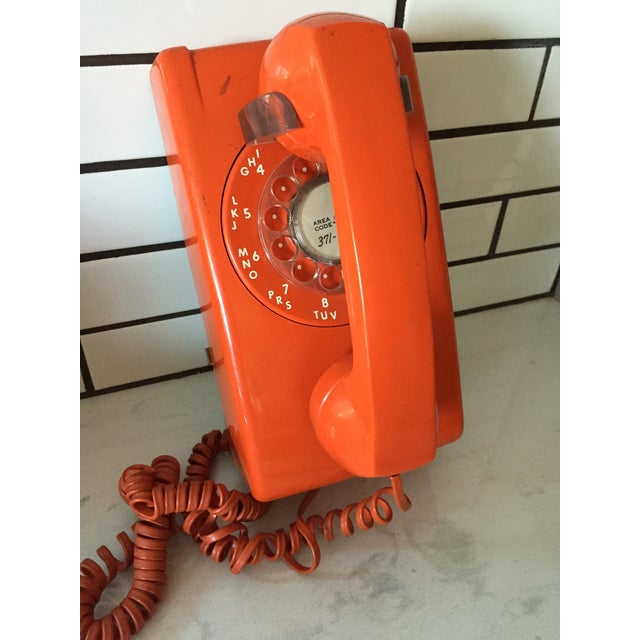 Vintage Orange Wall Phone - Image 4 of 12
