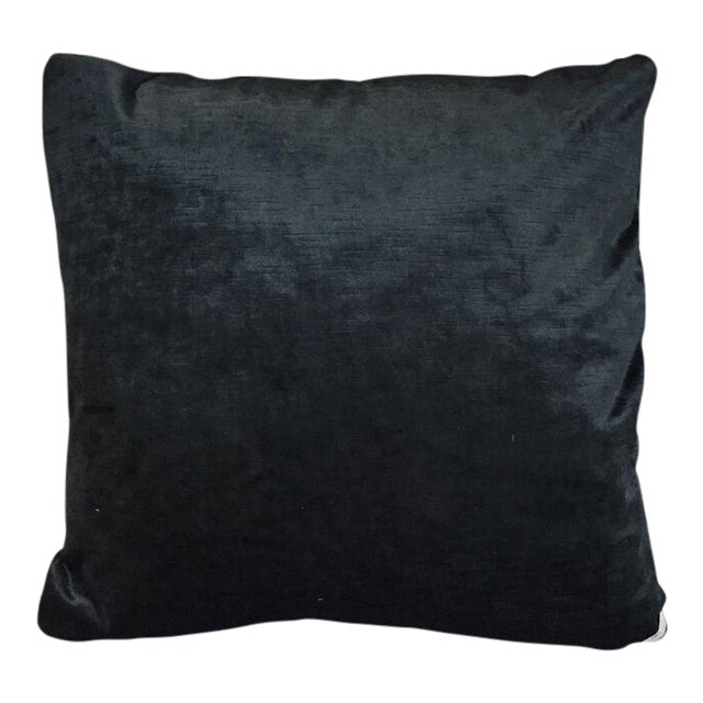 Kim Salmela Onyx Velvet Pillow For Sale
