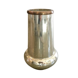 Mercury Glass Vase/Hurricane For Sale