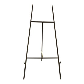 1960s Tabletop Solid Brass Easel For Sale