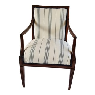 Statesville Chair Co. Blue and White Arm Chair