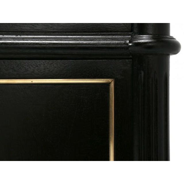 Petite French Louis XVI Ebonized Buffet For Sale In Chicago - Image 6 of 11