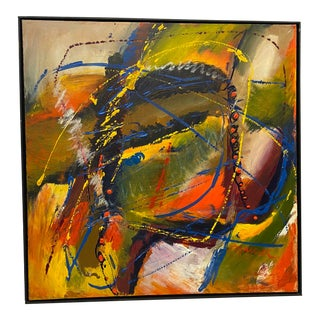 """Eye"" Abstract Painting Signed by Marlene Bremer For Sale"
