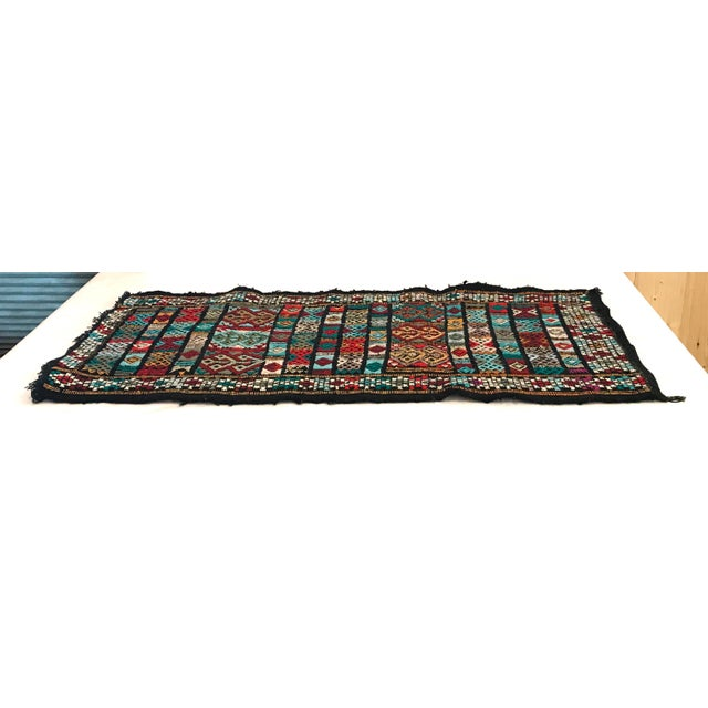 Mid 20th Century Vintage Woven Table Runner Rug- 3′4″ × 1′7″ For Sale In Dallas - Image 6 of 9