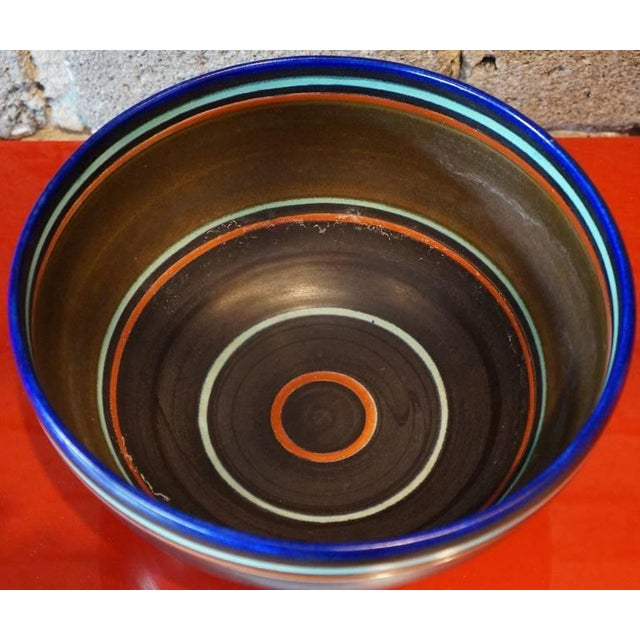 Gouda Pottery 1950s Mid-Century Modern Ceramic Bowl For Sale - Image 4 of 5