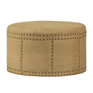 Round Jute Ottoman For Sale