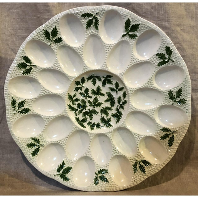 1960s Cottage White Ceramic Egg Plate For Sale In Philadelphia - Image 6 of 6