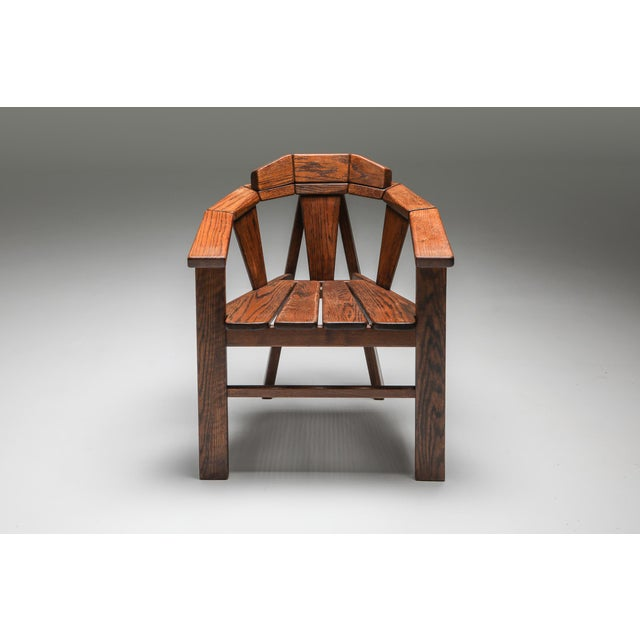 Wood Walnut Craftsman Chair - 1960s For Sale - Image 7 of 13