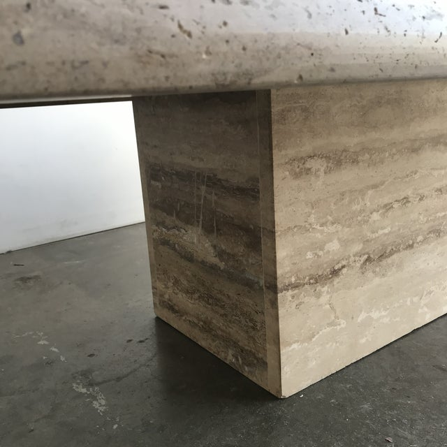 Solid Travertine Coffee Table For Sale - Image 10 of 12