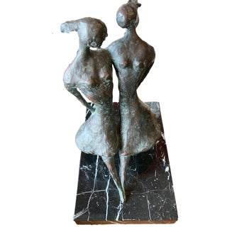 "Don Wilks Bronze Sculpture ""Sisters"" For Sale"