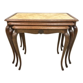 French Oak Nesting Tables For Sale