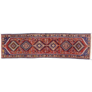 Nomadic Vintage Persian Yalameh Runner With Tribal Style, Hallway Runner - 2'8 X 9'4 For Sale