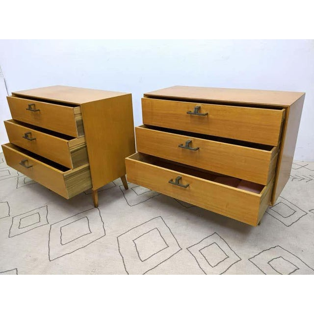Pair of Mid-Century Modern Bachelor Chest, Commodes or Dressers For Sale In New York - Image 6 of 13