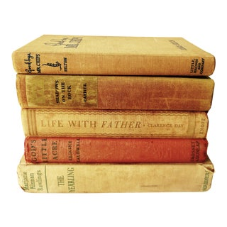 1930s Distressed Popular Books - Set of 5