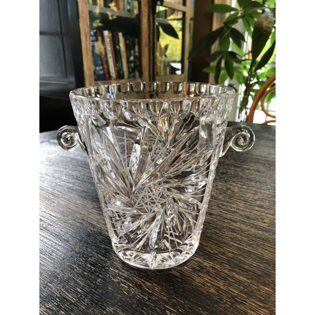 1920s Antique American Brilliant Cut Glass Ice or Wine Bucket For Sale - Image 5 of 9