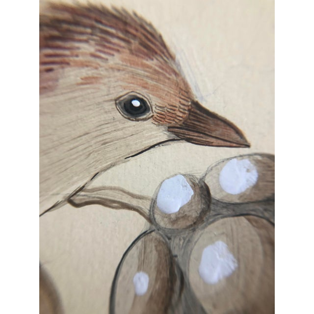"""Chinoiserie Style Bird Painting, """"Without Feather Ado"""" For Sale In Los Angeles - Image 6 of 10"""