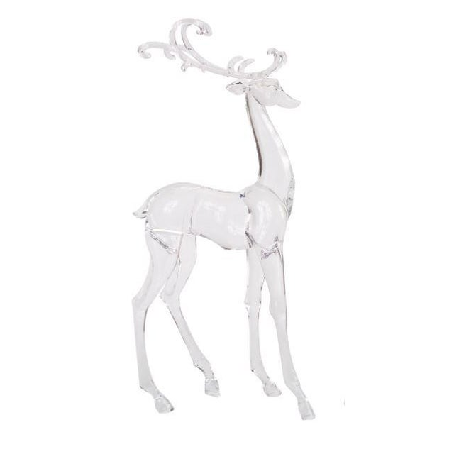 The Acrylic Deer Figurines - Set of 2 These playful deer, made from acrylic are the perfect adornment for the holiday...