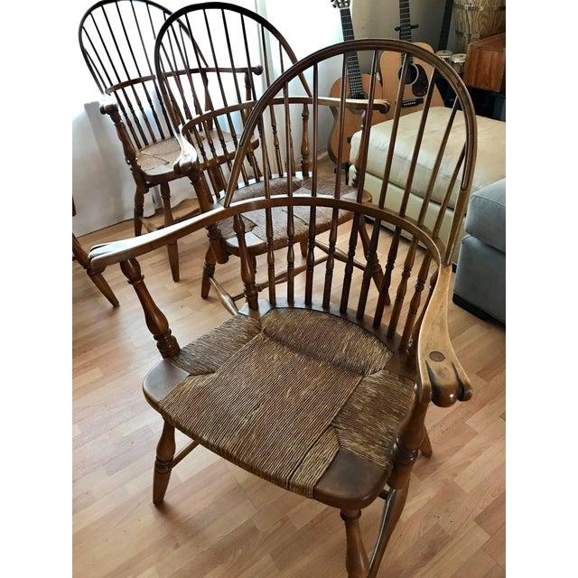 Barnard & Simonds 1920 Barnard & Simonds Rochester NY Windsor Chairs - Set of 4 For Sale - Image 4 of 11