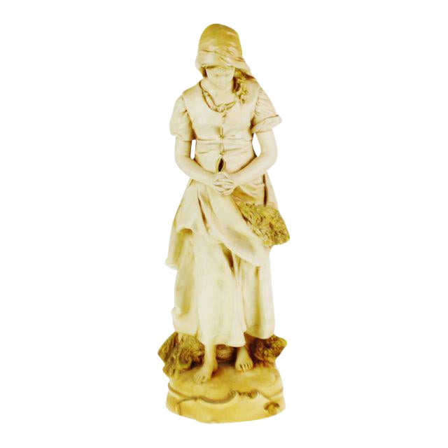 Marwal Ind. Inc. Vintage L'Angelus Chalkware Statue For Sale