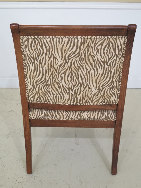 2000s Ethan Allen Animal Print Upholstered Arm Chairs   A Pair For Sale    Image 5