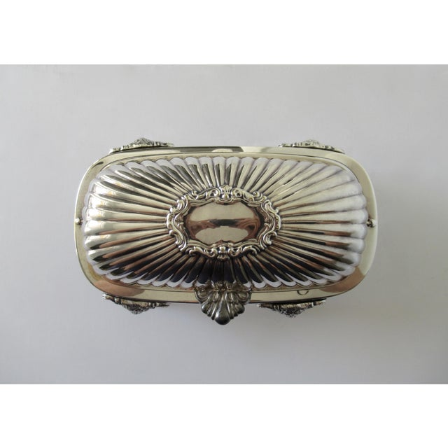 Wm. Rogers Silver Plate Platform Claw Footed Domed Butter Dish -2 Pieces For Sale - Image 11 of 13