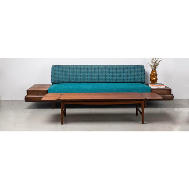1960s Mid-Century Modern Adrian Pearsall Sofa in Josef Hoffmann Maharam Peacock Upholstery For Sale - Image 5 of 8