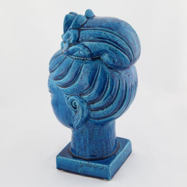 """Rimini Blu"" ceramic Guan Yin bust by Aldo Londi for Bitossi, circa 1960s For Sale - Image 10 of 13"