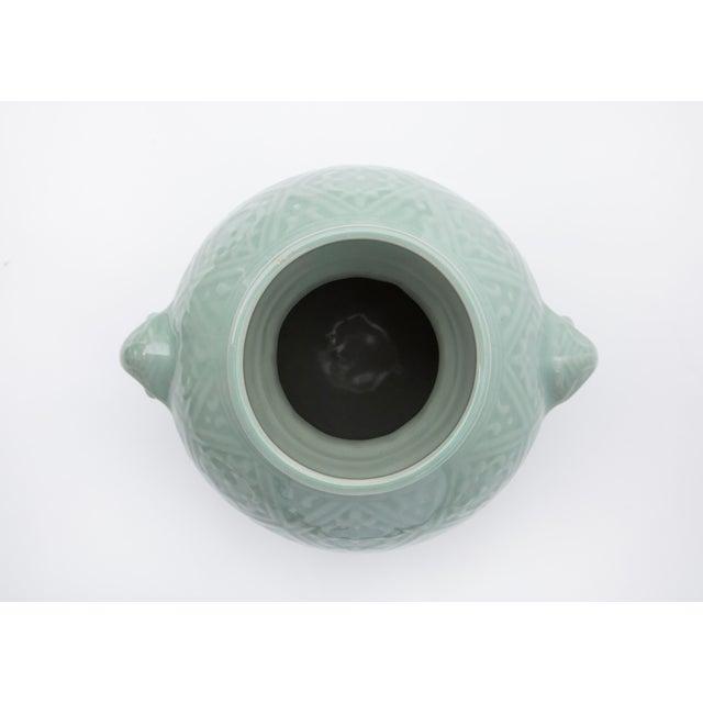 1960s 1960's Chinese Porcelain Vase in Celadon Glaze For Sale - Image 5 of 7
