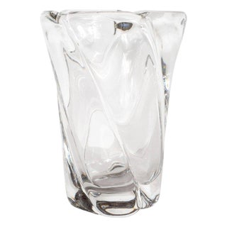 French Mid-Century Modern Translucent Glass Vase by Daum For Sale