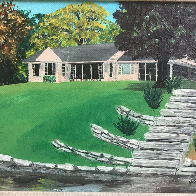 Mid Century House Painting by Milly For Sale - Image 4 of 8
