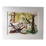 """Image of Mid-Century Classroom Teaching Poster """"Exploring the Woods"""", 1962 For Sale"""