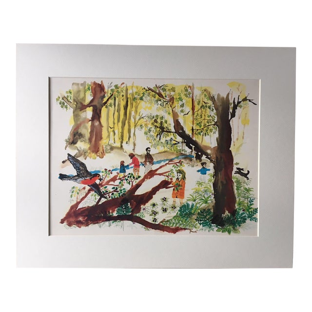 """Mid-Century Classroom Teaching Poster """"Exploring the Woods"""", 1962 For Sale"""