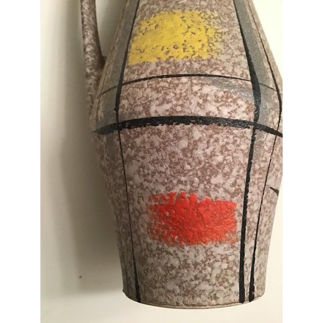 Red 1950s Vintage Scheurich West German Handmade Ceramic Vase With Label For Sale - Image 8 of 10