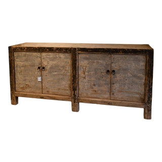 Chinese Painted Four Door Cabinet For Sale