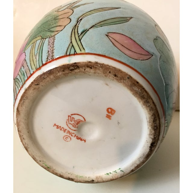 Waterlily Pattern Chinese Vase For Sale - Image 5 of 5